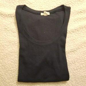 Zenana Outfitters Navy blue short sleeve shirt